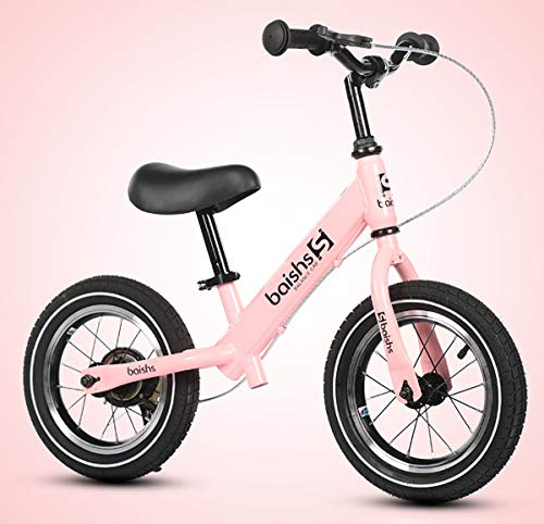 Bicicleta Kawasaki Balance sin Pedales para Niños de 2-6 Años de Fácil Manejo y Ruedas de Goma Eva,Pink