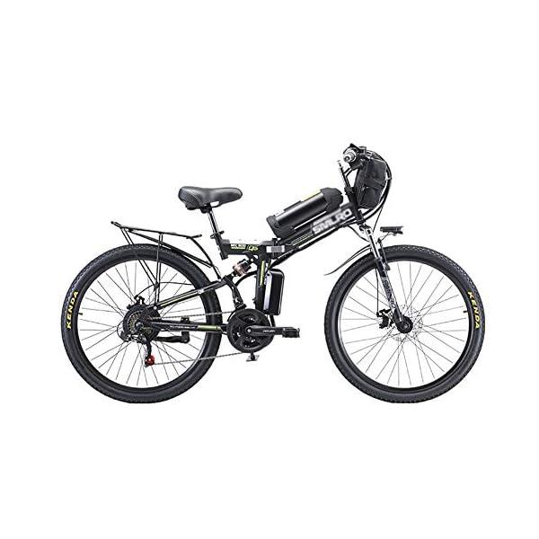 51hYvdN7UHL. SS600  - 26 Zoll Rad 21 Gang E-Bike,Tragbares Lithium-Batterie Mountainbike,Klappbare Elektrofahrrad Mit 350w Bürstenloser Motor