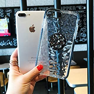 جرابات CRISTY-Fitted - حامل مطبوع على شكل الماس CZ جراب الهاتف الخلوي لهاتف iPhone11 Pro MAX 6 6S 7 7Plus 8 8Plus X XR XS ...