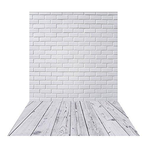 Muzi 150x250cm blanco diseño de pared de ladrillo gris madera fondo estilo Retro fondo recién nacido fotografía fondo vinilo photography Fondo Para Suelos de madera Drop xt-5602