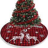 AOOF Falda de árbol de Navidad con forma de abeto, cubierta para pie de árbol de Navidad, 120 cm