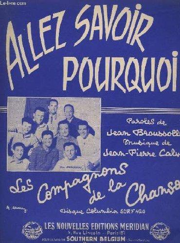 ALLEZ SAVOIR POURQUOI - PIANO + CHANT.