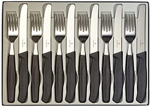 Victorinox Swiss Classic Ménagère, 12 Pièces Set de Couverts, pour 6 Personnes, 6 X Couteaux de Table, 6 X Fourchet tes à Manger, Lave-Vaisselle