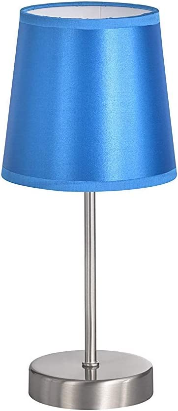 Dieser Artikel Ist Für E14 Leuchtmittel Aller Energieeffizienzklassen Geeignet Cesena Tischleuchte 1 Flammig Metall Schirm Glanz Hellblau 32 Beleuchtung
