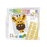 Pracht Creatives Hobby P23027 Pixel Set Medaillon Giraffe, Schlüsselring, Anhänger, für Kinder, Jungen und Mädchen, ideal als kleines Geschenk, Mitgebsel, für den Kindergeburtstag