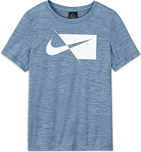 NIKE T-Shirt-DA0282 Camiseta, Psychic Blue/White, XS para Niños