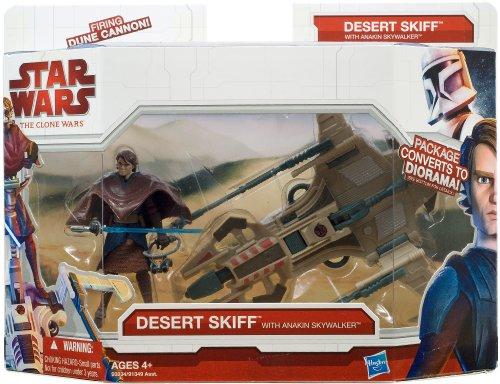 Hasbro - Vehículo y figura del Desert Skiff & Anakin Skywalker de Clone Wars