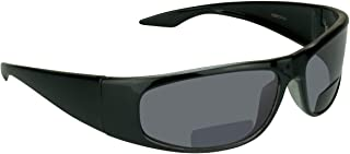 Bifocal Sun Reader Sunglasses for Men and Women. Sporty Wraparound Full Frame with Nearly Invisible Reading Line