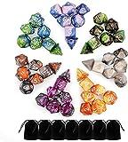 Monuary Dadi Dungeons And Dragons, 49 Pezzi D&D Dadi Poliedrici da Gioco Doppio-Colore per...