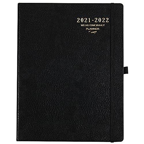 Agenda 2021 2022 A4 – Agenda semanal 210 x 297 mm, de julio 2021 a junio 2022 para una perfecta gestión del tiempo, 24 páginas de notas, color negro