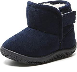 Sponsored Ad - Baby Boys Girls Snow Boots Warm Fleece Kids Winter Shoes Anti Slip Toddler First Walkers
