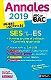 Annales ABC du BAC 2019 - Sciences Economiques et Sociales - Term ES