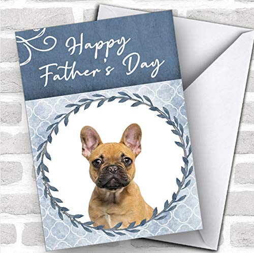 French Bulldog Dog Traditional Animal Personalized Father's Day Greetings Card