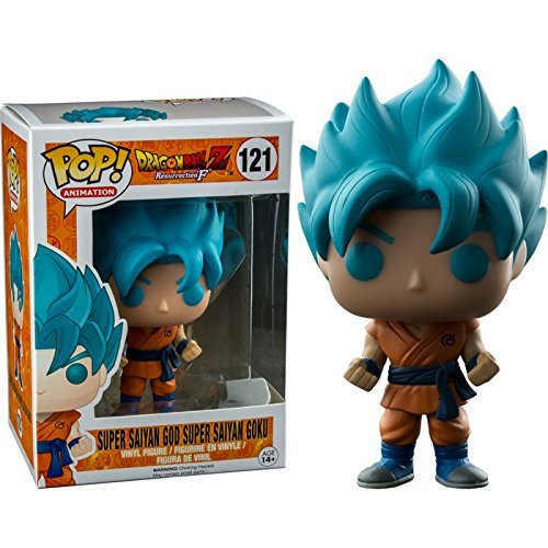 Funko - Figurine Dragon Ball Z - Super Son Goku God Blue Exclu Pop 10cm - 0849803097103 by FUNKO