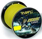 Black Cat Zeus Line - Hilo de Pescar (400 m, 37 kg, 0,45 mm de diámetro), Color Amarillo
