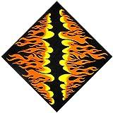LDA ERHALTEN Sie frischen japanischen Harajuku-Radfahrer-Flammen-Feuer-Druck-schützenden nahtlosen quadratischen Mehrzweckschal-Motorrad-Stirnband-Bandana-Hals-Krawatte gestreifter Strudel