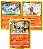 Generic Cinderace Pokemon Evolution Card Set...