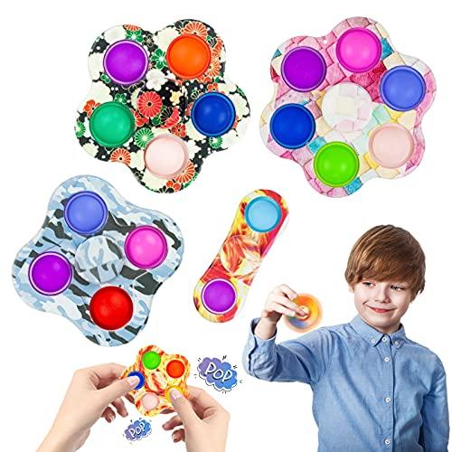 Joybright Pop Fidget Spinners-5 Piezas Fidget Spinner Poppet Juguete sensorial Simple, Mano Portátil Fidget Spinner para Niños y Adultos, Alivia el estrés y la ansiedad