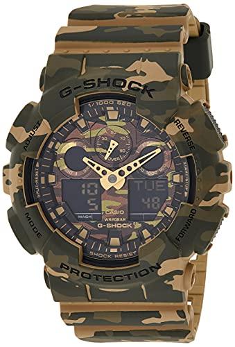 Casio G-Shock Analog-Digital Green Dial Men's Watch-GA-100CM-5ADR (G580)
