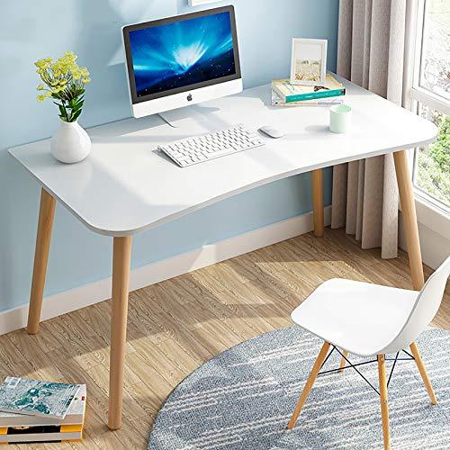 Mesa de ordenador compacta para el hogar, resistente para ahorro de espacio, montaje rápido, práctico escritorio de oficina, color blanco, 120 x 60 x 75 cm