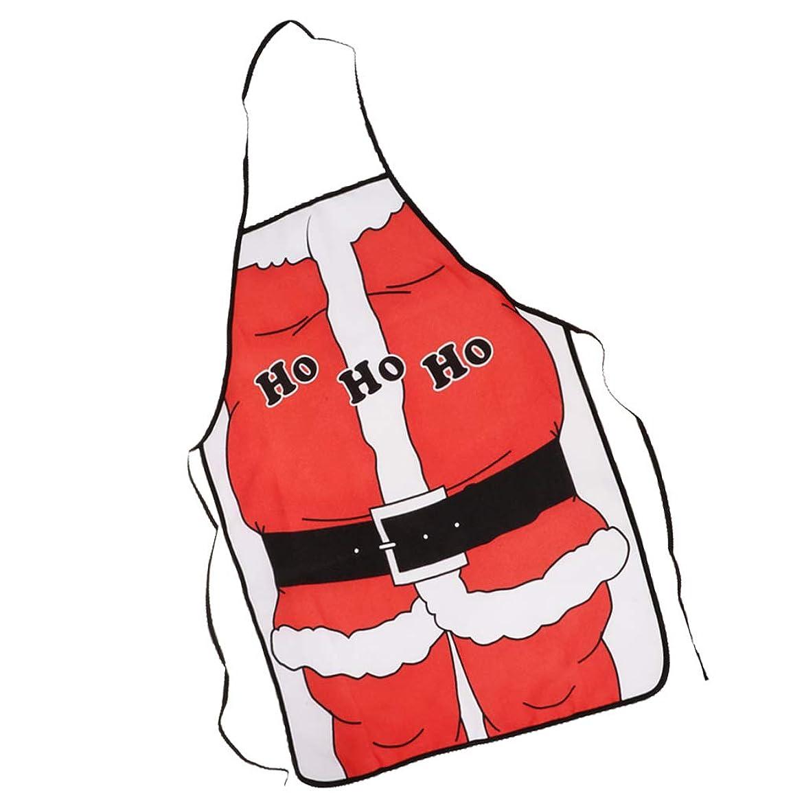 ジョグ概して額#N/A サンタクロースエプロンクリスマスコスチュームエプロンコスプレパーティーシェフファンシードレス - サンタクロース