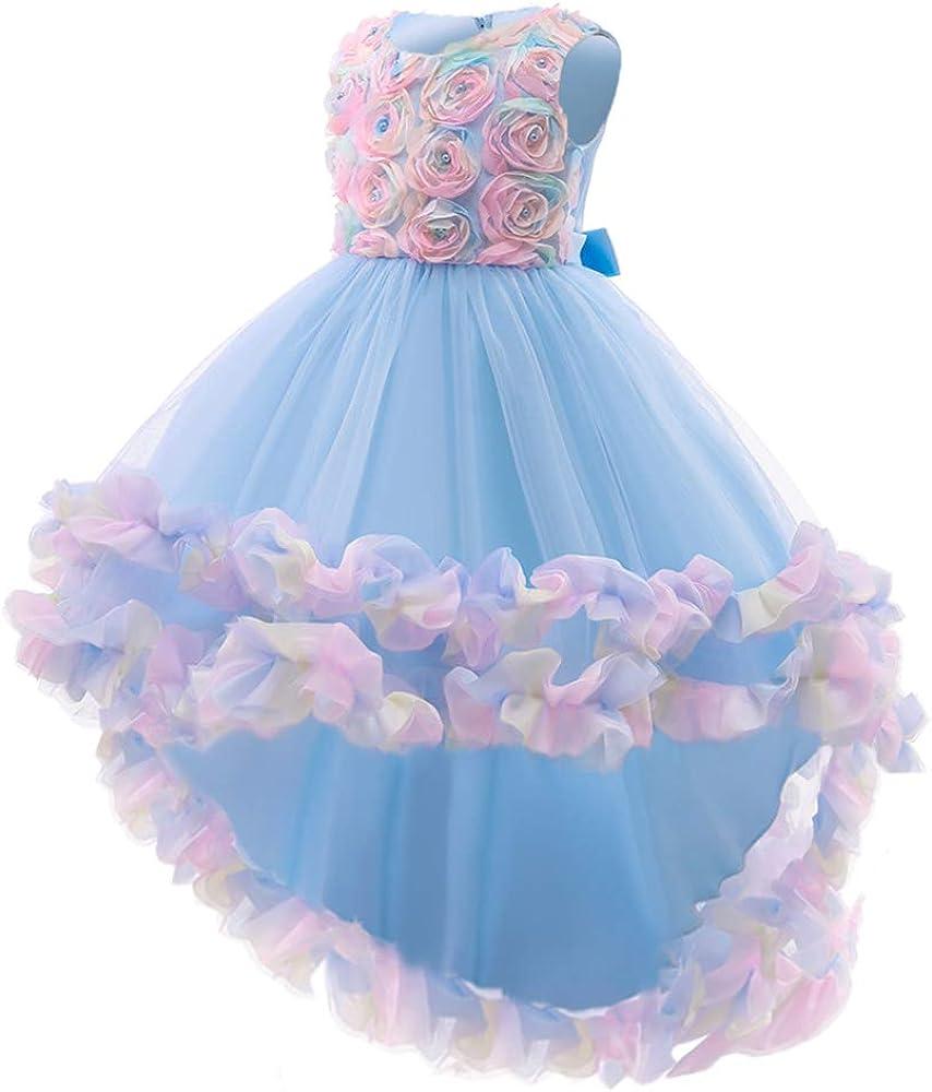 CMMCHAAH 2-10T Flower Girl Wedding Outlet SALE Genuine Pageant Toddler Dresses Hi-Lo