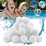 Taotuo 1.5 lbs Pool Filter Balls, Eco-Friendly Fiber Filter Media for Swimming Pool Aquarium Filters Alternative to Sand (Equals 50 lbs Pool Filter Sand)
