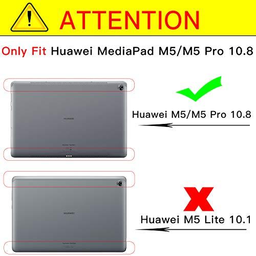 Ztotop Hülle für Huawei MediaPad M5 /M5 Pro 10.8 Zoll 2018, Premium Kunstleder Leichte Case mit Auto Schlaf/Wach Funktion und Pen Halter, für Huawei MediaPad M5 10.8 Zoll 2018 Modell,Schwarz - 2
