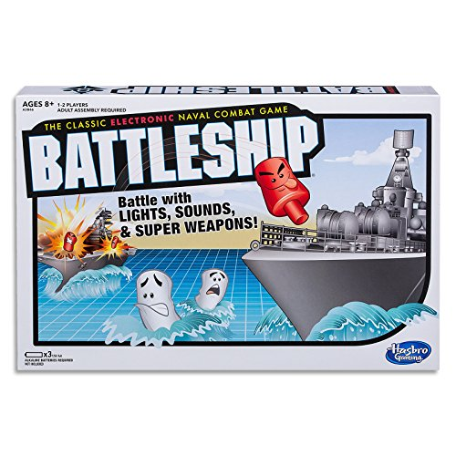 BATTLESHIP - Electronic with Carry Case - Naval Combat Game - 1 to 2 Players - Strategy Family Board Games and Toys for Kids - Boys and Girls - A3846 - Ages 8+