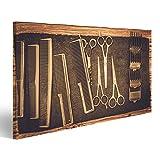islandburner, Quadro moderno Accessori per parrucchiere nel negozio di barbiere S Stampa su tela Quadro JLY-IT