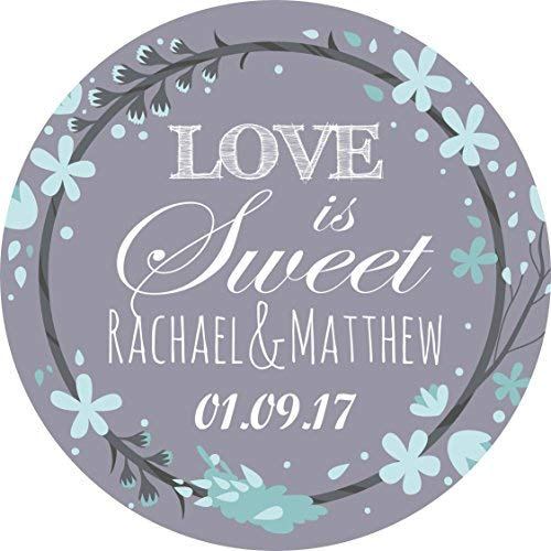 hiusan Wedding Elegant Lilac Grey Personalized Sticker Lables Christmas Address Labels Envelop Seals Party Favor Tags Lable