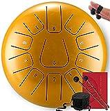 Clásico Actualizado lengua tambor de acero Handpan Drum Drum Lotus Instrumentos de percusión con el bolso for la meditación, la práctica del yoga, performance, música Enseñanza (12 pulgadas Color: man