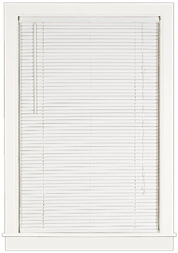 Achim Home Furnishings Deluxe Sundown 1-Inch Blind, 31-Inch by 64-Inch, White
