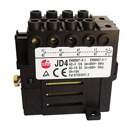 Relé electromecánico KEDU JD4 230 V 400 V 8 pines 10 pines 3NO 4NO (400 V 10 terminales)