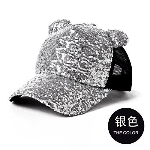 FQG*Cap kinderen vallen en winter tij winter vrouwelijke honkbal cap stijlvolle aluminium folie vizier hoeden pet Hoeden