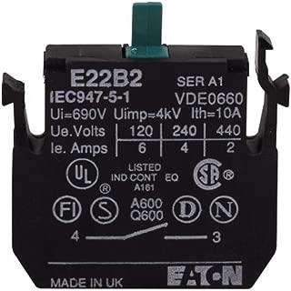 EATON CUTLER HAMMER E22B2 CONTACT BLOCK, 1NO, 10A, SCREW