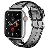 iiteeology Compatible with Apple Watch Band 42mm 44mm, Women Glitter Soft Silicone Sports iWatch Band Strap for Apple Watch Series 5/4/3/2/1 (42mm 44mm black/silver band + silver connector)
