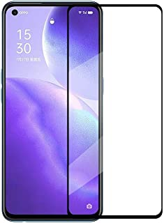 Wuzixi Oppo Reno5 5G Screen Protector. [Full Coverage] [9H Hardness] HD transparent scratch-resistant tempered glass scree...