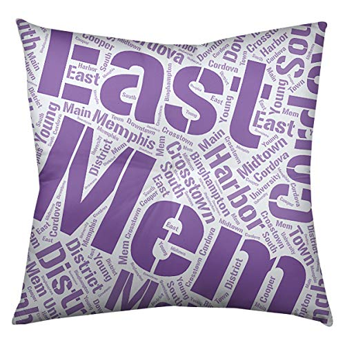 Artverse Artverse Rand Cites Memphis Tennessee Districts Word Art Purple Floor Pillow Square Tufted From Amazon Daily Mail