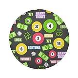 TropicalLife ADMustwin - Juego de 6 manteles individuales redondos para mesa de billar, diseño de trébol de billar, juego de 6 manteles individuales a...