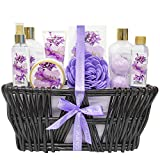 Green Canyon Spa Lavendel Spa Geschenk Korbset für Frau Geburtstag Geschenksidee 10-teiliger Spa...