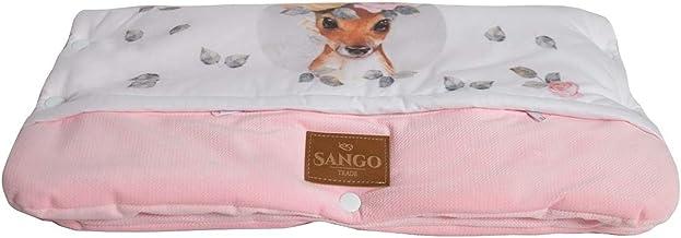 Sango Trade Universal Kinderwagenmuff für einen Trolley Handwärmer 28 x 50 cm Kinderwagen Handschuhe Baumwolle antiallergische Füllung Hirsch mit Blumen