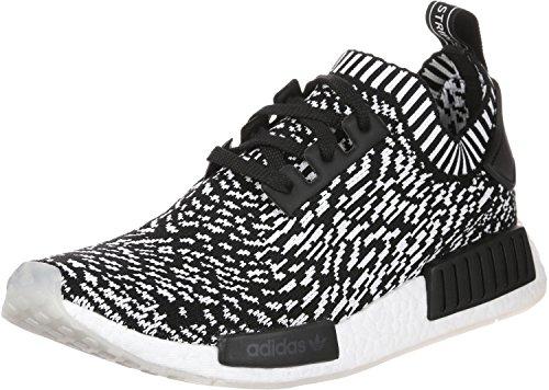Adidas Herren NMD R1 Primeknit Sneaker, Schwarz (Negbas / Negbas / Ftwbla), 44 EU