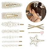10 horquillas para el pelo, con perlas multiestilo, tocado para mujeres y niñas, boda, compromiso, fiesta de cumpleaños