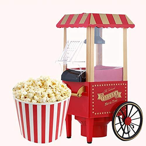 Trintion Retro Heißluft-Popcorn-Maschine Nostalgie ohne Fett Fett Ölfreie Popcorn-Maschine 40,5 x 26 x 21 cm