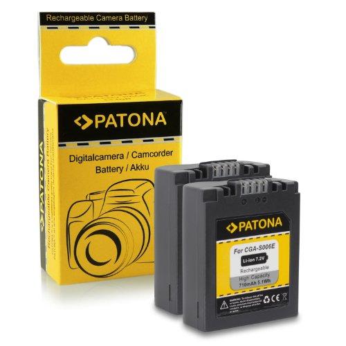 2x Akku / Batterie wie CGA-S006 für Panasonic Lumix DMC-FZ7 | DMC-FZ8 | DMC-FZ18 | DMC-FZ28 | DMC-FZ30 | DMC-FZ38 | DMC-FZ50