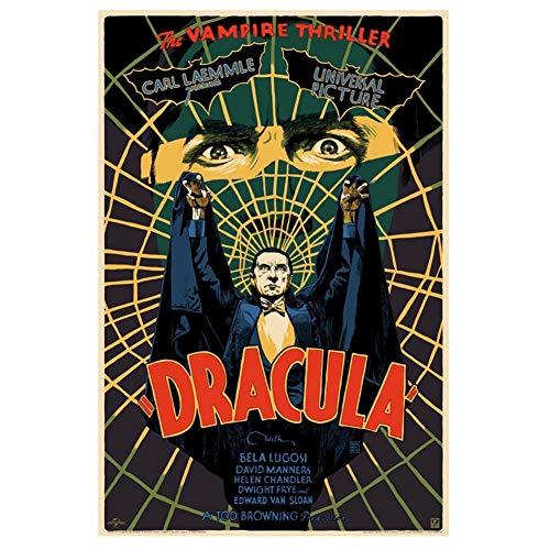 Sanwooden Poster Dracula - Universal Monsters - Bela Lugosi Kunstdruck Leinwand Malerei Für Wohnzimmer Wohnkultur -50x70cm Kein Rahmen