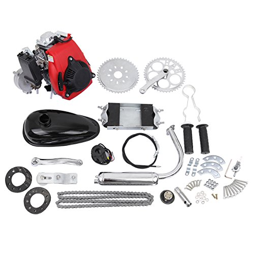 "Iglobalbuy 49cc Powerful Pull Start 4-Stroke Cycle Motor Kit Compete Gas Kit Motorized Bike Petrol Gas Bicycle Engine for 28"" V frame Bike and 26"" ATV"