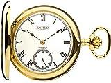 Reloj de Bolsillo de Oro 9ct Mitad Pulido Hunter - 17 Movimiento Jewel
