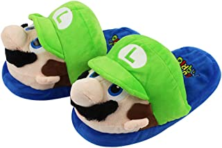 EASTVAPS Super Mario Mario Brothers Home Plush Slippers Cotton Warm Shoes